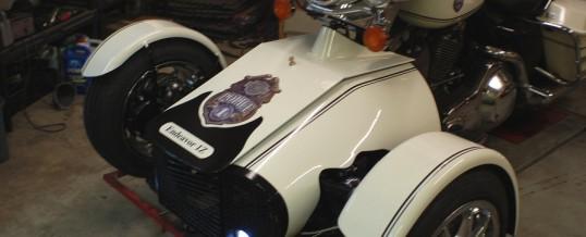 Custom Harley Police Bike 2 Trike